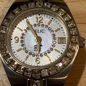 Relic Wet Two Tone Crystal Date Watch